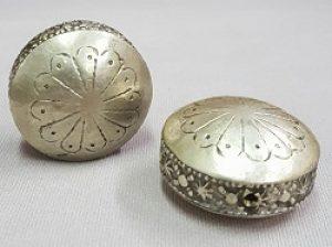 Moroccan Hollow Coin Stamped Bead