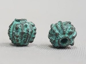 Bronze Patina Prickly Bead