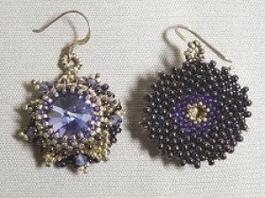 3-layered Swarovski Crystal Bezelled Earring