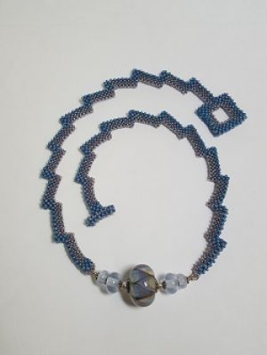 Blue Lightning Necklace