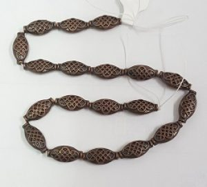 Copper Celtic Oval Beads