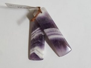 Dog Toothed Amethyst Earring Pair