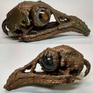 Electroplated Bird Skull