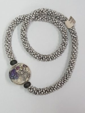 Kumihimo Necklace with Angelica Schott Lampwork