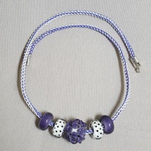Purple and White Necklace