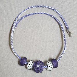 Purple and White Earrings