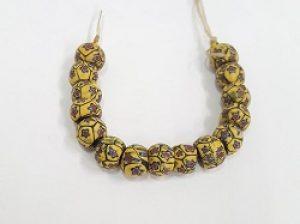 Venetian Mosaic Yellow Rounds--1800s