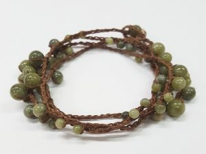 Crochet and Beaded Wrapped Bracelet/Necklace through Kirkwood Community College