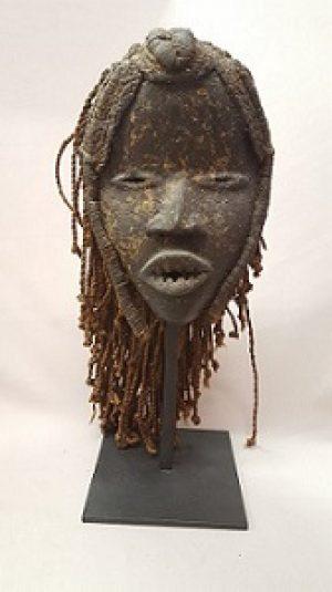 Gle (Dan) Mask with Rope Hair