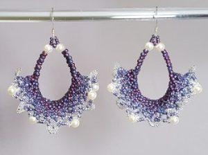 Lace Earrings Kit--purple