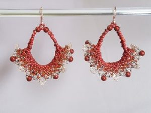 Lace Earring Kit--Red