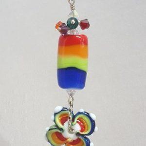 Pridewear Art Bead Flower Necklace
