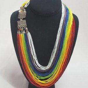 Rainbow Multi-strand Necklace