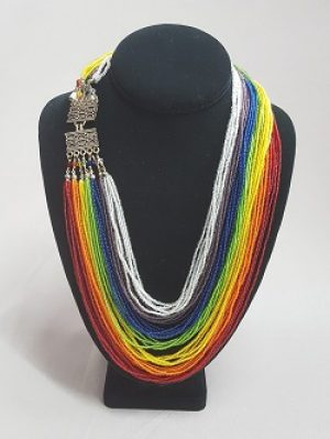 Rainbow Multi-strand Necklace