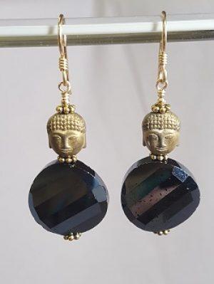 Vintage Swarovski and Buddha Earrings