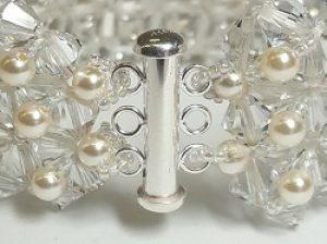 Swarovski Cuff with Swarovski Pearls
