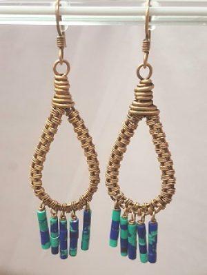 Azurite Bronze  Hoops