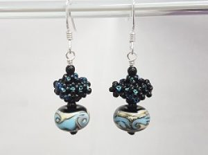 CRAW Earrings with Lampwork