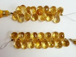 Citrine Faceted Briolettes