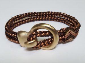 Kumihimo Bracelet with Hook Clasp