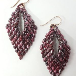 Superduo Leaf Earrings Kit--Tweedy Pink