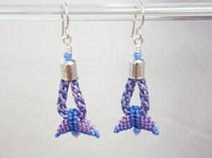 Kumihimo Winged Earrings