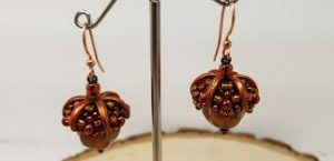 Gyrls Night Out:  Caramel's Acorn Earrings