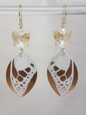 Gyrls Night Out:  Butterfly Dangle Earring