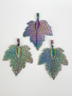 Copper Plated Maple Leaf Pendant