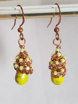 New Class!  Capped Wire Earrings