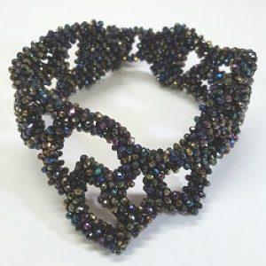 Asymmetrical Hematite Beaded Bracelet