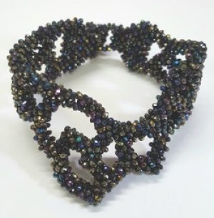 Asymmetrical Hematite Beaded Bracelet