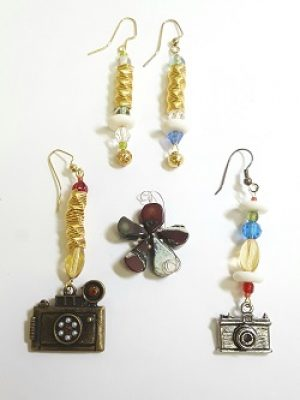 Bead Challenge 2020--Jeanne Abrons--Pack Up Your Troubles in Your Copper Bag & Smile, Smile, Smile