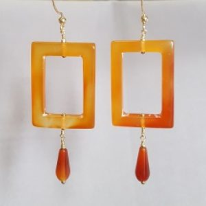 Carnelian Frame Earrings