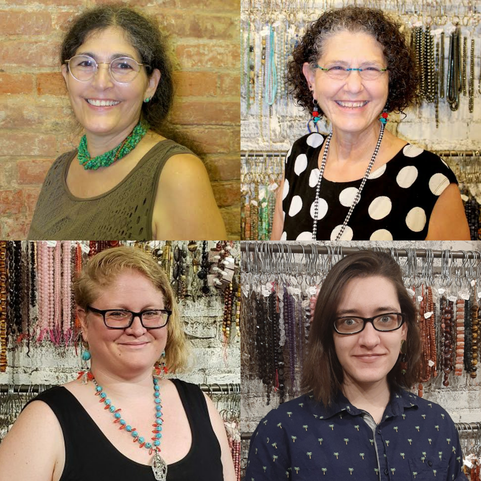 Beadology Iowa is staffed by Alyssa Jakowchuk, Karen Kubby, and Laurel Kubby.