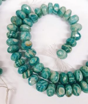 Russian Amazonite Faceted Rondels