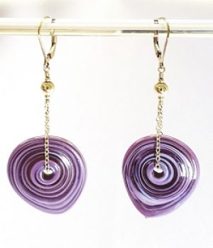 Gyrls Night Out:  Flapjack Earrings with Chain