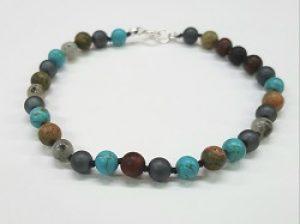 Knotted Stone Bracelet