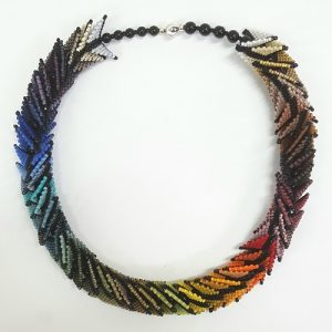 Warped Square Necklace in Full Color