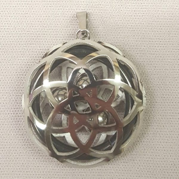Stainless Steel Pendant with Captured Spheres