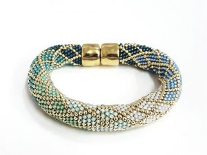 Crocheted Diamond Bracelet