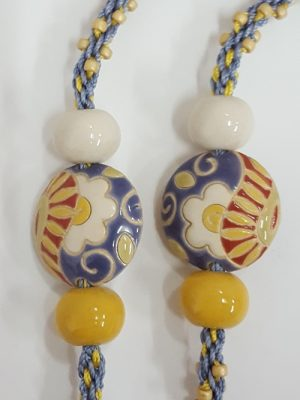 Ceramic Flower Kumihimo Necklace