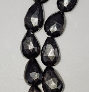 Pyrite Faceted Teardrops