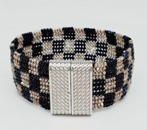 New Class! Herringbone Checkerboard Bracelet